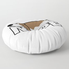 Nope Basset Hound Floor Pillow