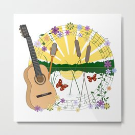 Festival Feeling Illustration Metal Print
