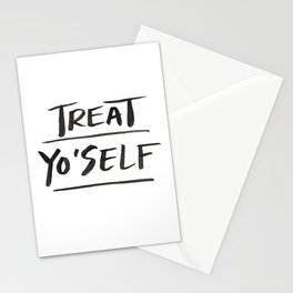 TREAT YO'SELF Stationery Cards