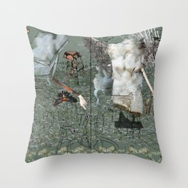 Dionysus and Apollo Throw Pillow
