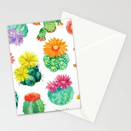Watercolor cactuses Stationery Cards