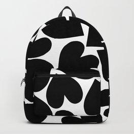 Black Hearts Pattern Backpack