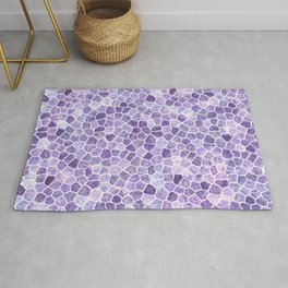 Lilac Cobbled Patchwork Terrazo Pattern Rug