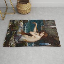 Mermaid John William Waterhouse Rug
