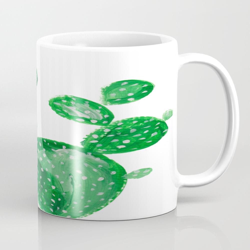 Green Cactus Tea Cup by Ranitasart MUG7848763