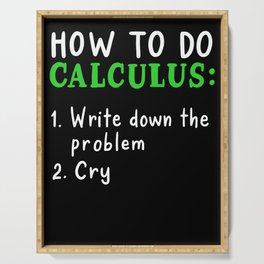 How To Do Calculus For Math Teacher Serving Tray