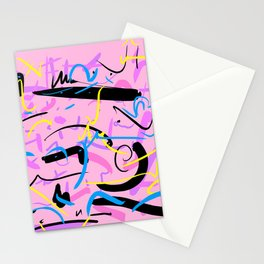 abstract typographic Stationery Cards