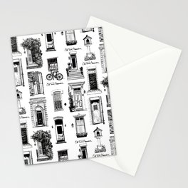 Old Town Alexandria Repeat B&W Stationery Cards