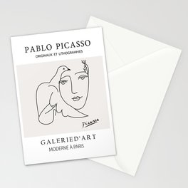 Picasso Peace - dove face - world peace Stationery Cards