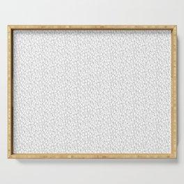 Circles | White Pattern Serving Tray