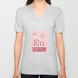 Periodic Elements - 63 Europium (Eu) Unisex V-Neck