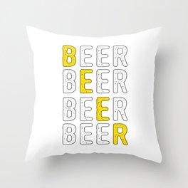 Cool Beer Design Throw Pillow