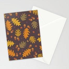 Oak Leaves dark Stationery Cards