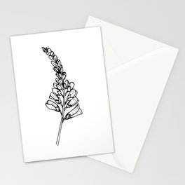 Foxglove Ink Drawing Stationery Cards
