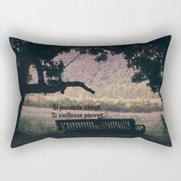 Réflexion Si Jeunesse Savait Si Vieillesse Pouvait Rectangular Pillow