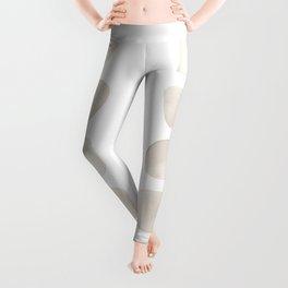 White Shapes Leggings