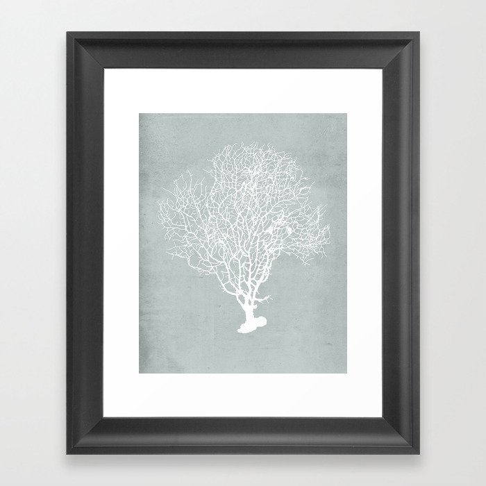 White Coral Gerahmter Kunstdruck
