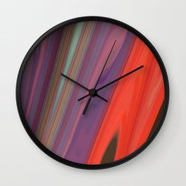 Splashes of Color (purple, corals, and gold) Wall Clock