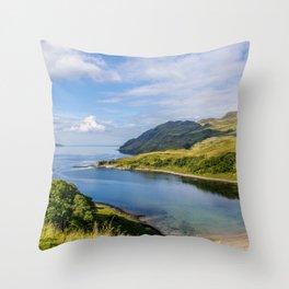Camas nan Geall 2 Ardnamurchan Scotland Throw Pillow