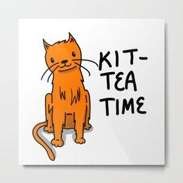 Kit-Tea Time   Veronica Nagorny  Metal Print
