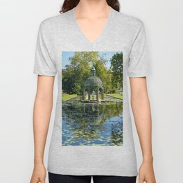 Island of Love in the English Garden of the Domaine de Chantilly - France Unisex V-Neck