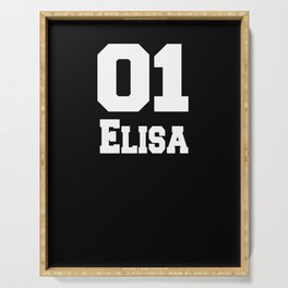 name t-shirt elisa sport t-shirt old school  Serving Tray