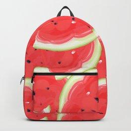 Large seamless pattern of ripe, sweet, juicy watermelon.  Backpack