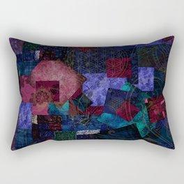 Bohemian Patchwork Hippie Festival Rectangular Pillow