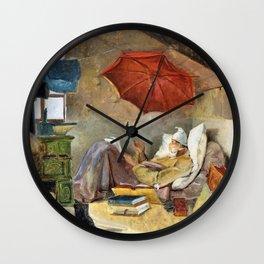 The Poor Poet - Carl Spitzweg Wall Clock
