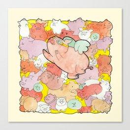 Pigs Gone Wild Canvas Print