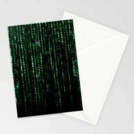 The Matrix Code Stationery Cards