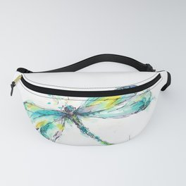 Watercolor Dragonfly Fanny Pack