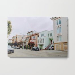 Pastels in San Francisco Metal Print