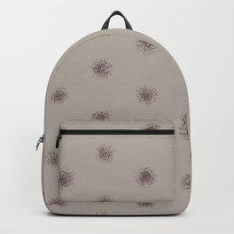 Deep Purple Taupe Gray Splatter Polka Dot Pattern 2021 Color of the Year Epoch and Fondue Backpack