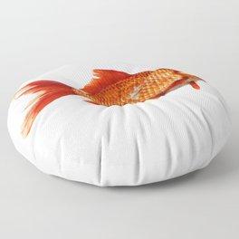 Geometric Goldfish Floor Pillow