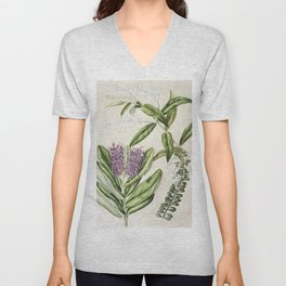 Antique plant Rangiora drawn by Sarah Featon (1848-1927) Unisex V-Neck