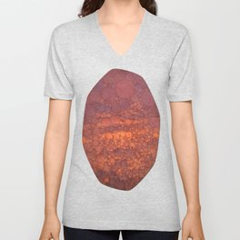 Percolated Sunset in Warm Tones Unisex V-Neck