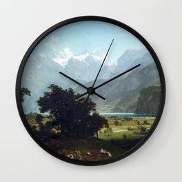 Albert Bierstadt Lake Lucerne Wall Clock