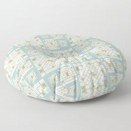 Mosaic Pattern 2. mint, gold, white, mosaic, decor, art,  Society6. Floor Pillow
