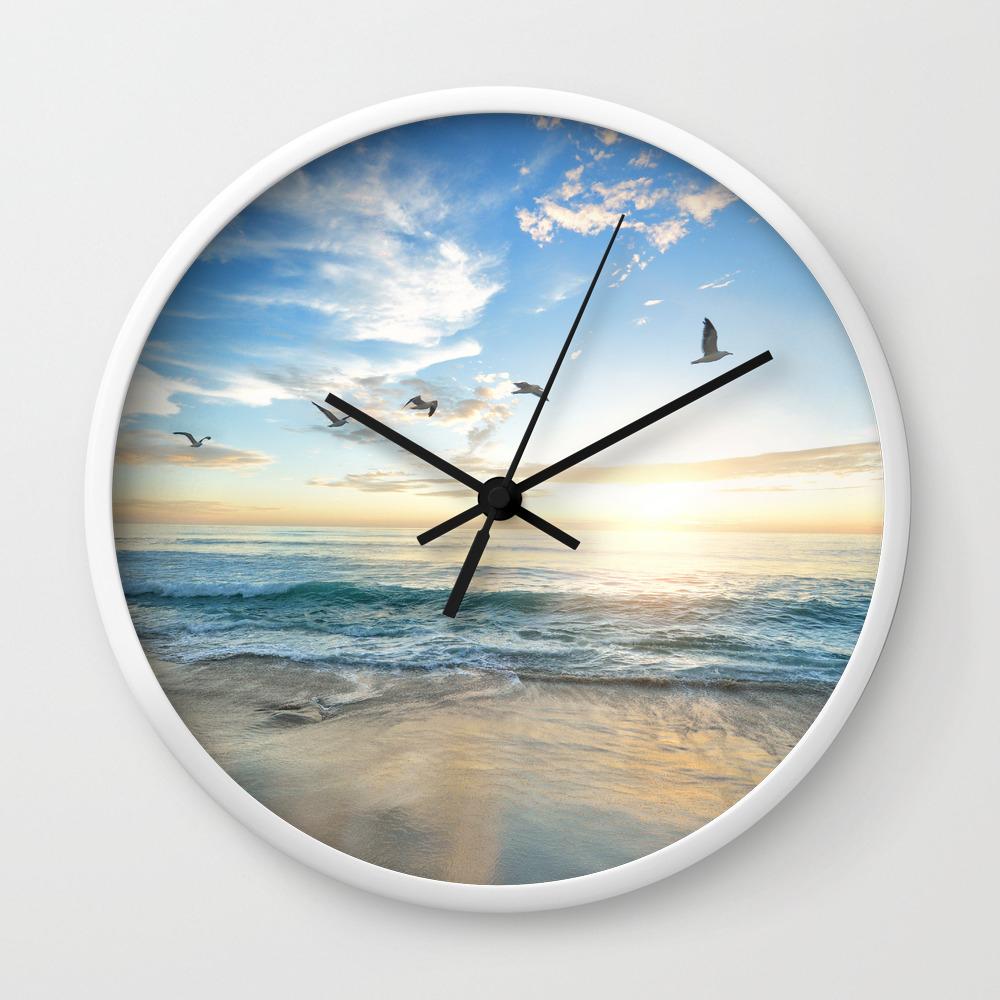 Beach Scene 12 Wall Clock by nauticaldecor