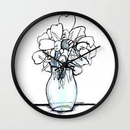 """""""Pretty Flowers in A Vase"""" Flowerkids Wall Clock"""