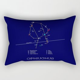 Zodiac Constellation Ophiuchus. Real Color Of The Stars Rectangular Pillow