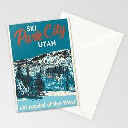Park City Vintage Ski Poster Stationery Cards