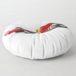 Red Racer  Floor Pillow
