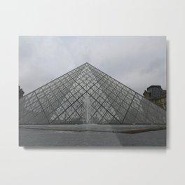Louvre in December Metal Print