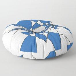 Geometric Classic Blue Floor Pillow