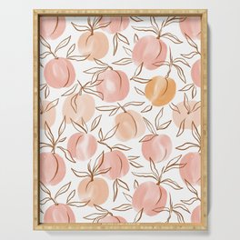 Watercolor peach Serving Tray