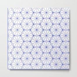 Blue Hexagon Pattern Metal Print