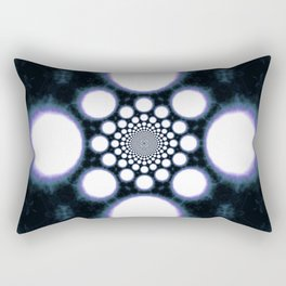 Space Galaxy Abstract Tie Dye Glow Rectangular Pillow
