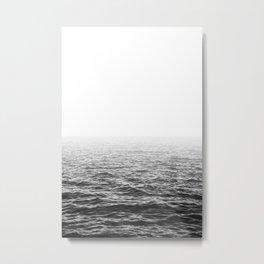 Water Minimalism Photography Sea Waves and Ocean Metal Print